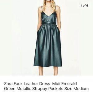 Zara faux leather dress. Medium